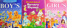 The Little Book of Boy's or Girl's Fairy Tales or Nursery Rhymes Padded Books