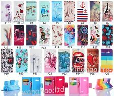 Deluxe Flip Book Style Cute Printed PU Leather Stand Case Cover For HuaweiNokia