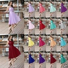 New Knee Length Formal Evening Prom Party Ball Gown Bridesmaid Dress Size 6-18