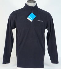 Columbia Half Zip Black Lightweight Fleece Jacket Shirt Mens NWT