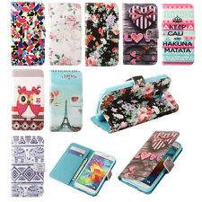 New Cute Wallet Pouch PU Leather Flip Stand Case Cover For Apple iPhone Samsung