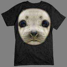 Big In Your Face Design Baby Seal Sea Lion Funny T-Shirt Tee