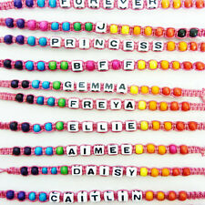 Childrens Girls Named Personalized Gift Wristband Friendship Initial Bracelet