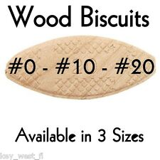 SIZE #0 ~ #10 ~ #20 WORKSHOP WOOD JOINTING BISCUITS  { LOT of 500 }  by PLD