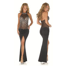 Sexy Sequined Prom Party Maxi Gown women long evening clubwear Bodycon Dress M