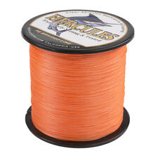 100M 300M 500M 1000M PE Dyneema Braid Fishing Line Orange 6-300LB 4/8 Strands