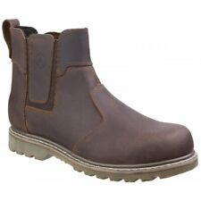 Amblers ABINGDON Mens Casual Durable Work Comfy Soft Leather Dealer Boots Brown
