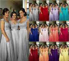 New Fashion Chiffon Evening Formal Party Ball Gown Prom Bridesmaid Dress 6 -18