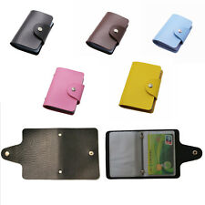Slim Pu Leather Pocket Credit Card Wallet Holder Postcard Package For 24 Cards