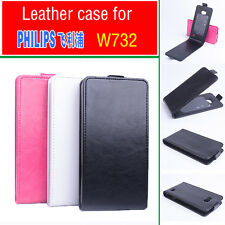 High Quality Fashion Leather Flip Case Cover for Philips W732 Smartphone