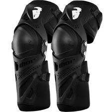 Thor MX 2015 Force XP Adult Dirt Bike Offroad Black Motocross Knee Guards Set