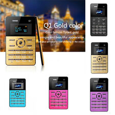 """Ultra Slim Mini Pocket OLED Cell Mobile Phone GSM MP3 Bluetooth 1.0"""" Card Size"""