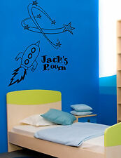 Space Rocket Giant Wall Art, Stickers Mural, Vinyl Large WA212 Childrens Bedroom