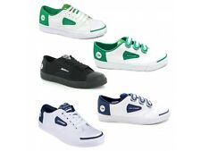 Dunlop GREEN FLASH Mens Womens Junior Kids Lace Up Touch Fasten Canvas Trainers