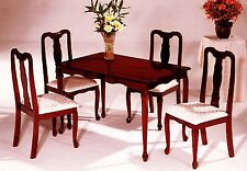 The Room Style 5-piece Queen Ann Cherry Finish Solid Wood Dining Set
