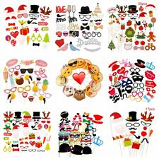 31 44 58pcs Party DIY Photo Booth Props Mask Glasses Mustache On A Stick Wedding