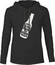 Too Much Blood in My Alcohol System (White) Mens Fine Jersey Hooded T-Shirt