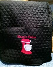 Quilted personalized embroidered Kitchenaid mixer cover fits 4.5- 5- 6- 7-8 qt