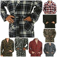 Men's Long Flannel Bathrobe Lightweight Full Length Cotton Robe Great Gift S-3XL