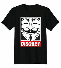 Disobey Anonymous V For Vandetta Mask Occupy 99% Revolution Funny T-Shirt Tee