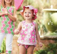 Mud Pie Lily Pad Pinafore and Bloomer Set