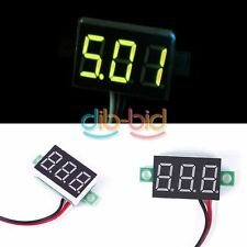 1/3Pcs DC 0-32V Pannello LED Voltage Meter 3-Digital Display Voltmetro Moto EB