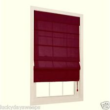 Burgundy Red Light Filtering Energy Save Fabric Roman Window Shades allen roth