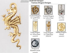 Dragon fobs, various designs & watch chain options