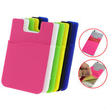3M Adhesive Sticker Back Cover Card Holder Pouch For iPhone Samsung Cell Phone