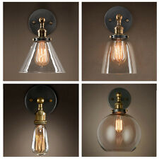 Industrial Lamp Retro Wall Light Glass Rustic Wall Sconce Vintage Wall Light