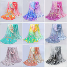 Women Long Thin Viole Chiffon Scarf Summer Beach Shawl Sexy Soft Wraps Scarves