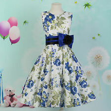 PRINCESS~ For Age 7~12 Flower Girls Wedding Gown Prom Bridesmaid Formal Dresses