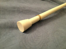 """White Round Spring Curtain Tension Rod!!   18-28"""" Adjustable!!"""
