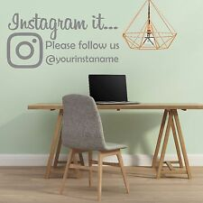 INSTAGRAM IT follow us | Wall sticker DECAL | Perfect for OFFICE SHOP WINDOW |S3