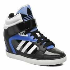 Womens Adidas Amberlight Up Wedge Sneakers New, Black Blue Orlando Magic M20827