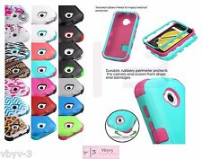 Hybrid TUFF Rubber Hard Soft Protective Case Cover For MOTOROLA MOTO E 2 2nd GEN