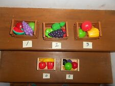 FISHER PRICE COUNT AND PLAY 75104 FARMERS  MARKET~ FOOD+ BINS~CHOOSE 1