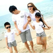 Casual Family outfits Woman Girl Man Boy sets cotton Girls Boys t shirt+ pants