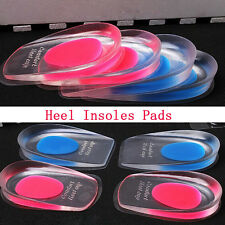 Gel Shoes Insoles Cushion Heel Cup Massage Pads Inserts Heel Pain Spur Silicone
