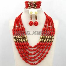 Unique Statement Crystal Necklace African Nigerian Wedding Jewelry Bridal Gift