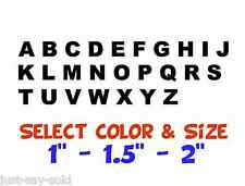 Alphabet - Letter Set - Vinyl Decals - Boat, House - Select Color & Size - Arial