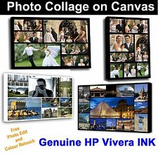 Your Photo Collage Canvas Print - Personalised on Box/Wrapped Many Size