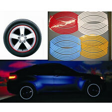 Nice 16 Strips Wheel Sticker Reflective Rim Stripe Tape Bike Motorcycle Car