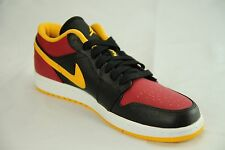 New Men's Nike Air Jordan 1 Low Top Black Gold Red Retro 11 Shoes Sneakers