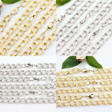 1/10Pcs White K Golden Plated Cable Open Link Iron Metal Chains Necklace Finding