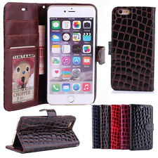 Genuine Magnetic Flip Wallet Leather Stand Case Cover For iPhone 5 5S 6 / 6 Plus