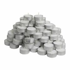 LOT OF 20/50/100/200 Tealight Tea Lights Candles Unscented Wedding Party Decor
