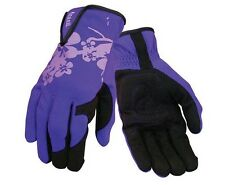 Ansell Women's Light Duty Work Wrist Glove Purple/Pink Back Faux Leather Palm