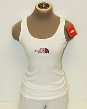 The North Face Women's Micro Logo Tank Top White/Pink - XS