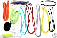 NEW FLAT ROUND COLOURED SHOE LACES STRONG BOOT STRING SKATE TRAINER SHOELACES